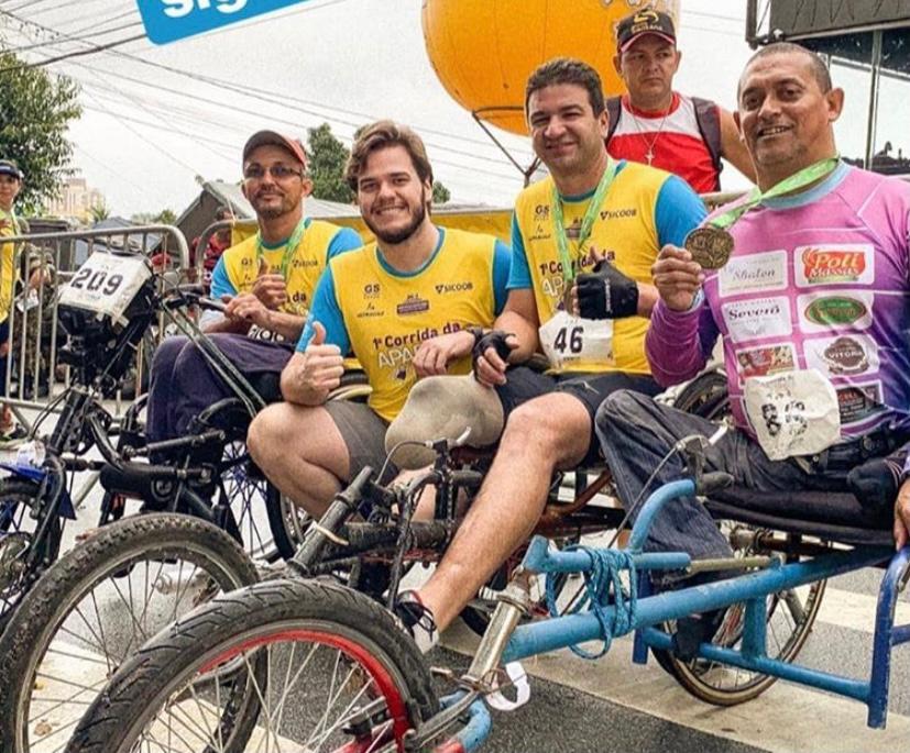 Bruno lembra apoio às pessoas com deficiência