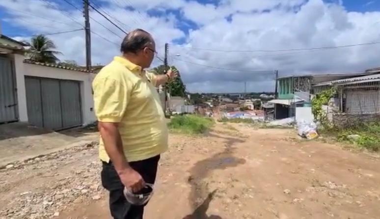 Marcílio encontra ruas sem calçamento e esgoto
