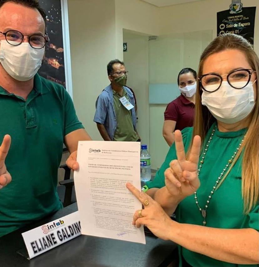 Eliane assina carta-compromisso com o Sintab