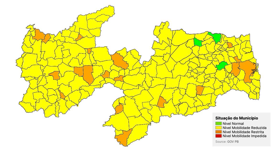 Covid-19: 200 cidades têm mobilidade reduzida