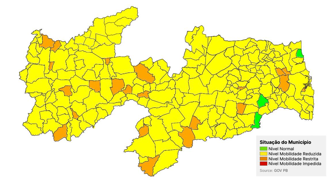 Cresce número de cidades na bandeira laranja