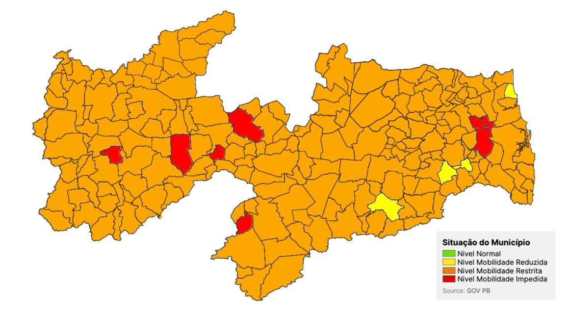 """Covid-19: 219 municípios da Paraíba estão """"na UTI"""""""