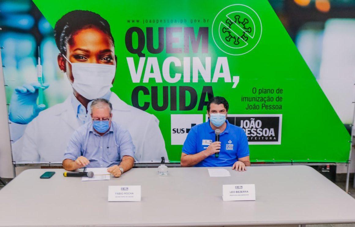 Vacinação é suspensa em JP até chegar novas doses