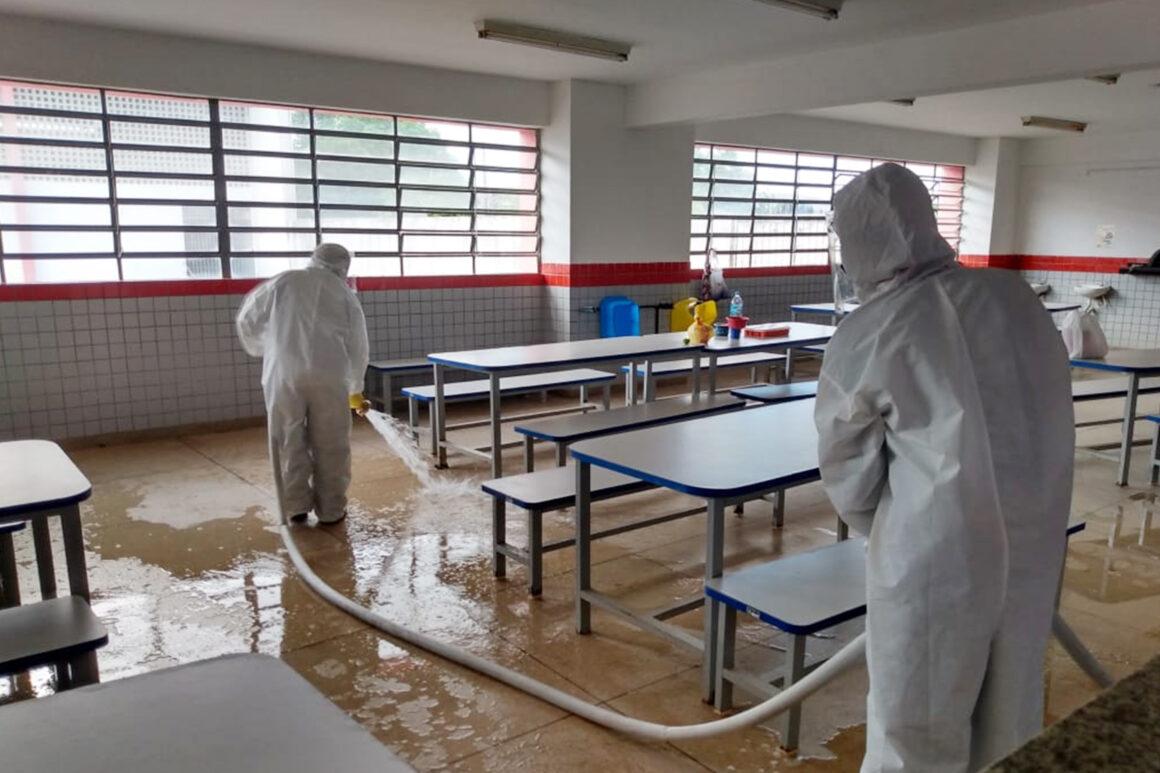 PMJP prepara escolas para retomar aula presencial