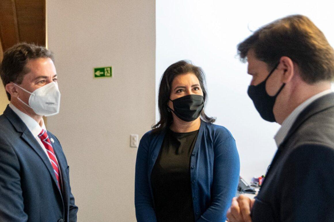 Veneziano discute eleições com o presidente do MDB