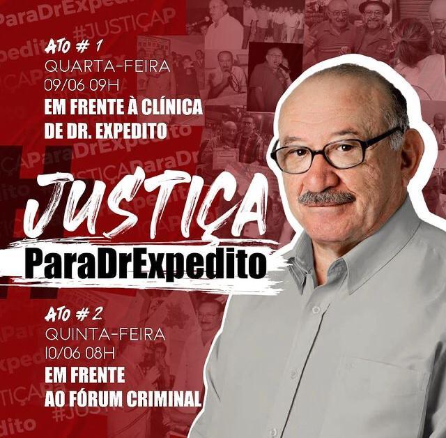 Atos pedem justiça pela morte de Expedito Pereira