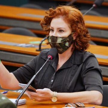 Carla Zambelli expõe votos de deputados sobre fundão