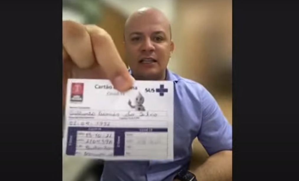 Cabo Gilberto se rende à vacina contra a Covid-19